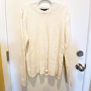 Tommy Hilfiger white knit sweater.